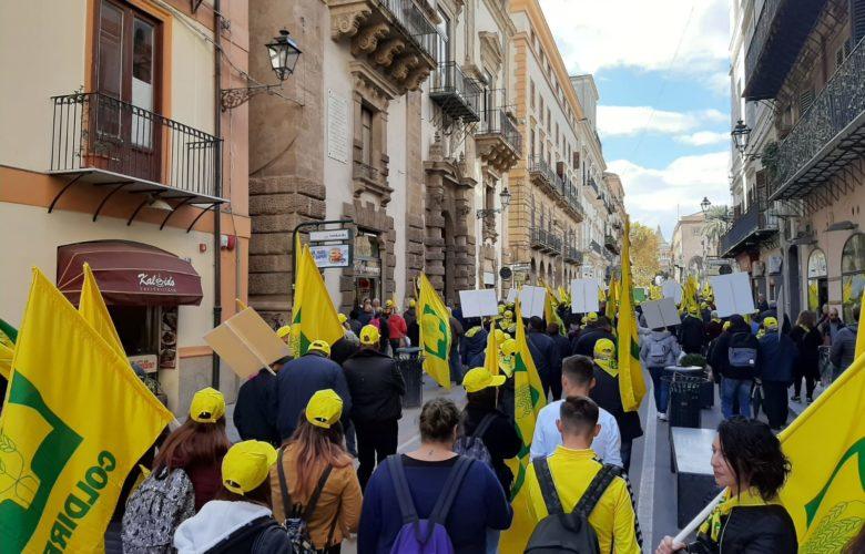 Coldiretti - manifestazione - Palermo