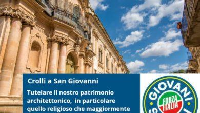 Scicli - danni - chiesa San Giovanni - Forza Italia Giovani Scicli