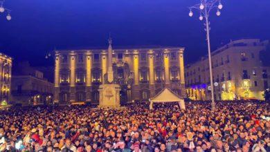 fine anno - piazza Duomo - Catania
