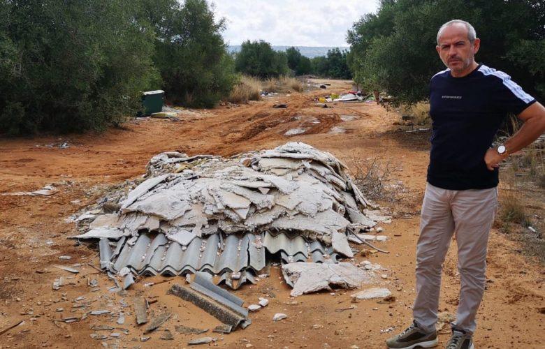 rifiuti in zona Cicchitto a Vittoria: il sopralluogo di Idea Liberale