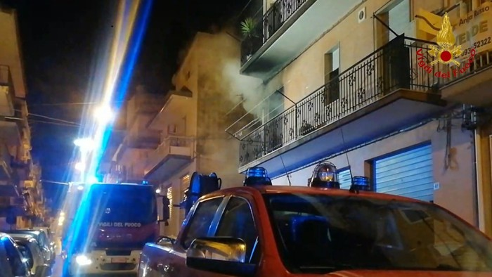 incendio appartamento ragusa