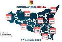 covid sicilia bollettino 17 gennaio