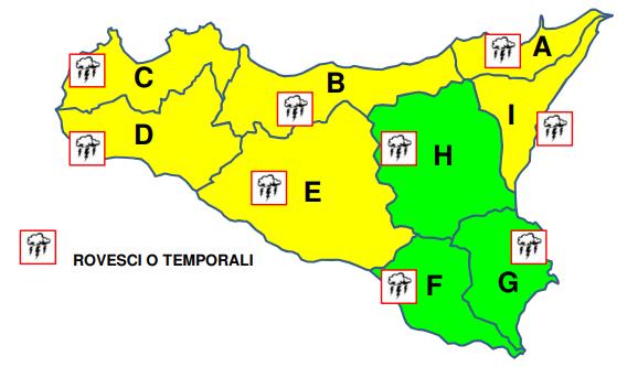 allerta gialla - sicilia