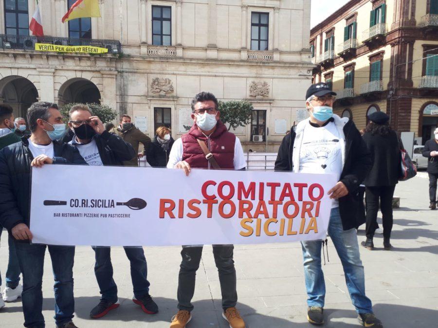 protesta - ristoratori - ragusa