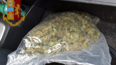 droga - schianto con marijuana - adrano